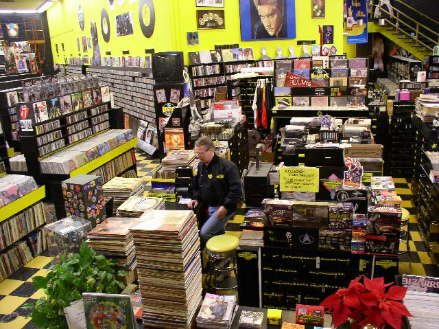 Interior of the Record Exchange